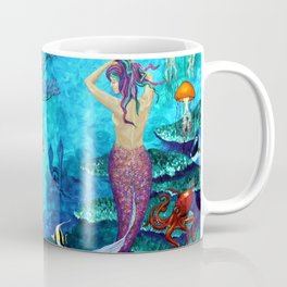 A Fish of a Different Color - Mermaid and seaturtle Coffee Mug