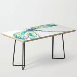 Watercolor Dragonfly Coffee Table