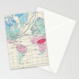 Vintage World Climate Map (1870) Stationery Cards