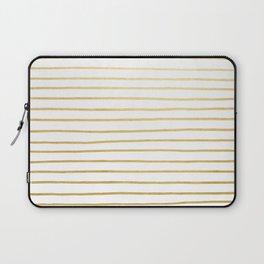 Gold Paris Stripe Pattern Laptop Sleeve