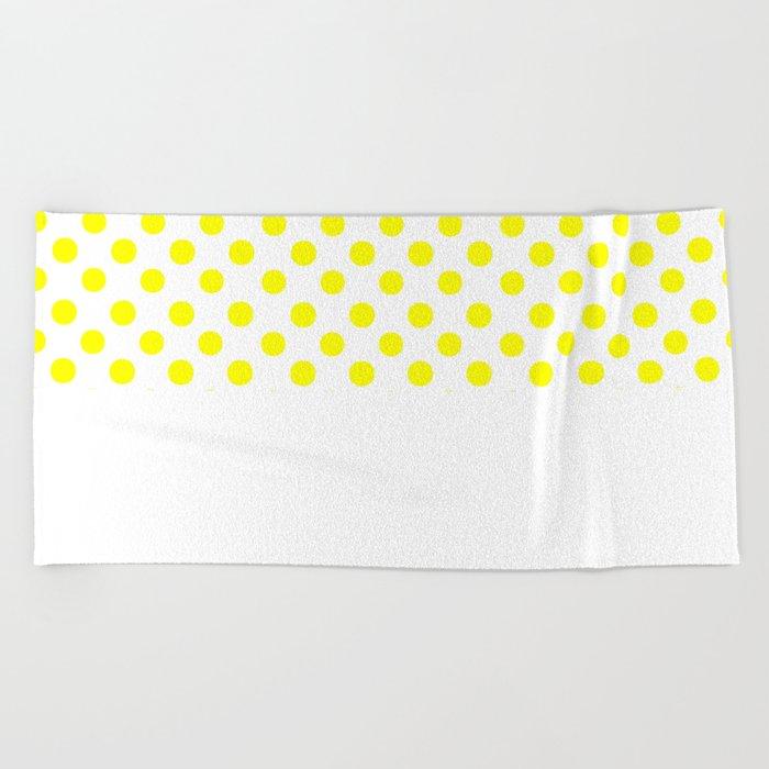Polka Dots (Yellow/White) Beach Towel