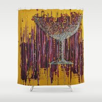 wine Shower Curtains featuring :: Afternoon Wine :: by :: GaleStorm Artworks ::