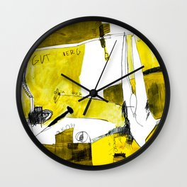 Track and field in yellow Wall Clock