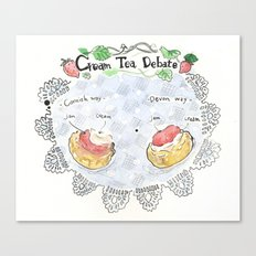 cream tea debate Canvas Print