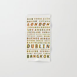 Travel World Cities Hand & Bath Towel
