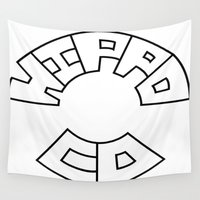 hippo Wall Tapestries featuring Hippo Logo by JDHicks