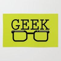 geek Area & Throw Rugs featuring Geek by Farah Saheb