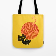Fitz - Happiness (cat and yarn) Tote Bag