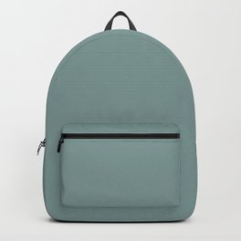 Dark Pastel Blue Green Solid Color Inspired by Valspar Secluded Garden 5002-4A Backpack