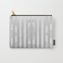 Gray Stripes and White Shape Carry-All Pouch