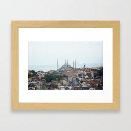 Blue Mosque - Istanbul, Turkey Framed Art Print