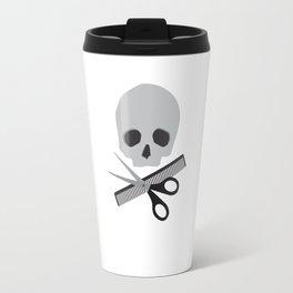 Barber skull Travel Mug