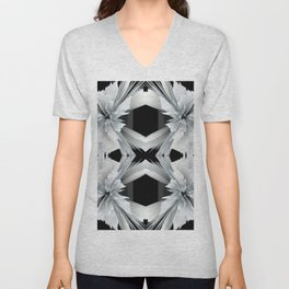 Digital Black & White Unisex V-Neck