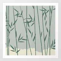 bamboo Art Prints featuring Bamboo by Rceeh