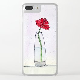 The Enchanted Rose Clear iPhone Case