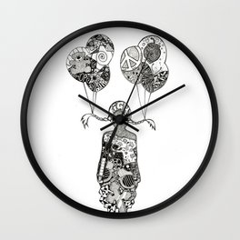 INCOGNITO FIGHT by Mady Thieme Wall Clock