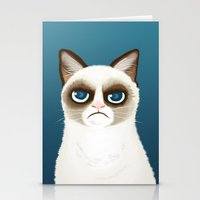 grumpy Stationery Cards featuring Grumpy by StudioMarimo