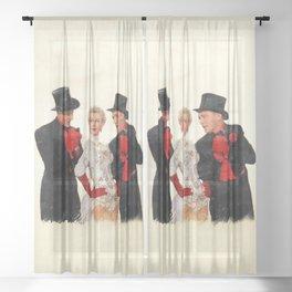 Mandy (White Christmas) Sheer Curtain