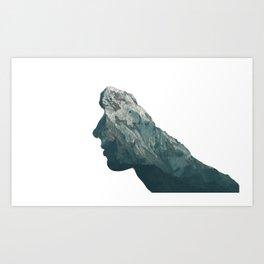 Mountain Head Art Print