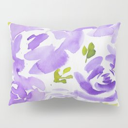 10  |  190412 Flower Abstract Watercolour Painting Pillow Sham