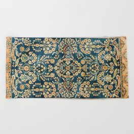 Sarouk  Antique West Persian Rug Print Beach Towel
