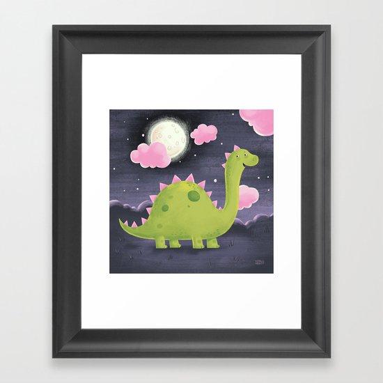 Gus the Dinosaur Framed Art Print
