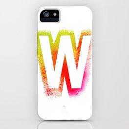 Unconventional alphabet iPhone Case