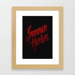 Summon the howlers Framed Art Print