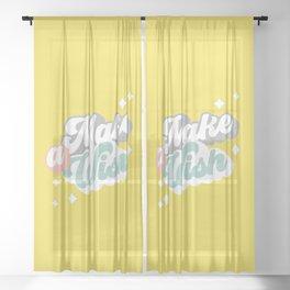 Make a Wish #positivity Sheer Curtain