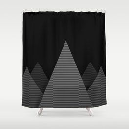 Grey Pyramids Shower Curtain