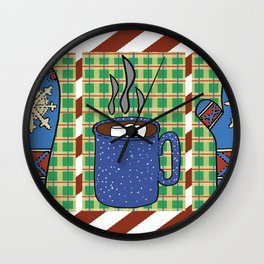 Cozy Christmas! Wall Clock
