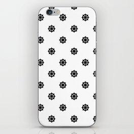 Dharma Wheel Pattern (Black and white) iPhone Skin