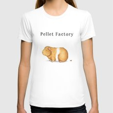 Pellet Factory - Guinea Pig Poop SMALL White Womens Fitted Tee