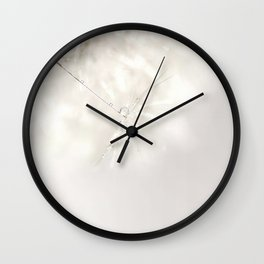 Sparkling dandelion seed head with droplet Wall Clock
