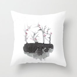 Abstract, style watercolor Throw Pillow