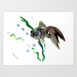 Fish, Aquarium Fish, cute fish design children room Art Print