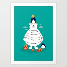Christmas in Arctic Art Print