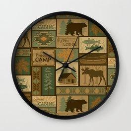 Big Bear Lodge Wall Clock
