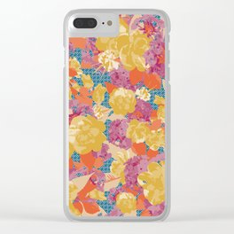 Contemporary Chintz Clear iPhone Case