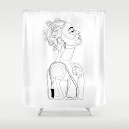 Bantu Beauty BW Shower Curtain