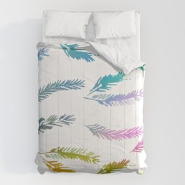 Colorful Rainbow Feather Contemporary Pattern Comforters
