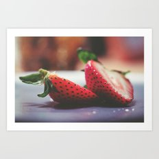 Iridescent Berries Art Print