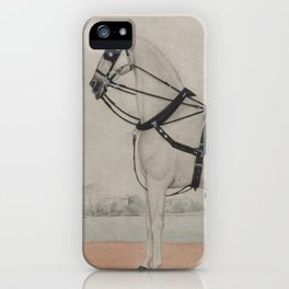 Vintage Carriage Horse Painting (1845) iPhone Case