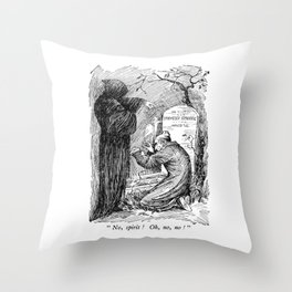 A Christmas Carol Charles Dickens Scrooge and Death Throw Pillow