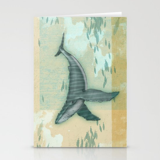 rhythm of the whale Stationery Cards