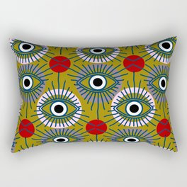 All Seeing Eye Pattern in Olive Rectangular Pillow