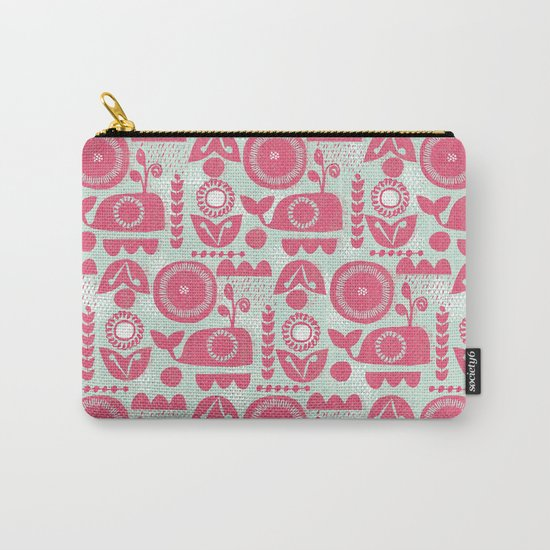 folk whale Carry-All Pouch
