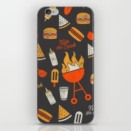 Kiss the Cook BBQ Pattern iPhone Skin