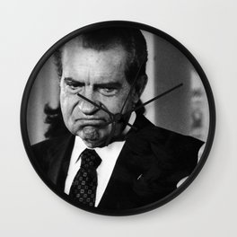 Richard Nixon Thumbs Up Wall Clock