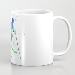 woman skier freestyler jumping Coffee Mug